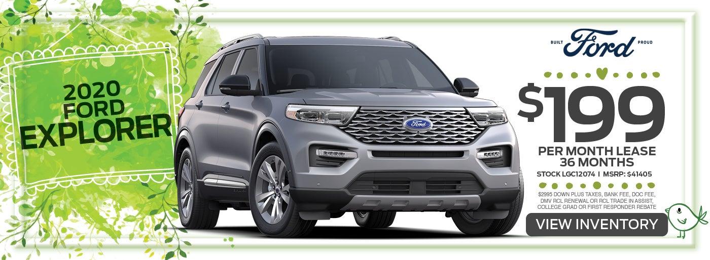 2020 Ford Explorer Lease Special Fullerton Ford Specials Somerville Nj